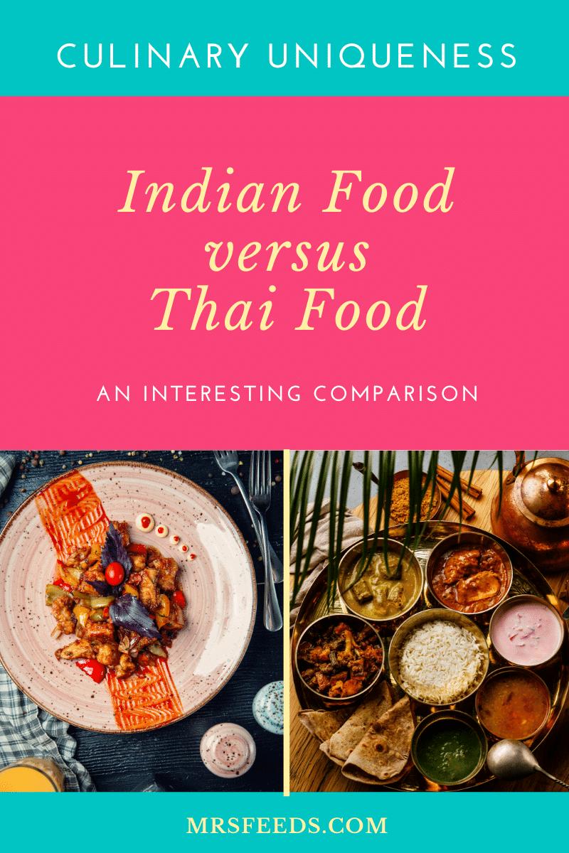 Indian versus Thai Cuisine