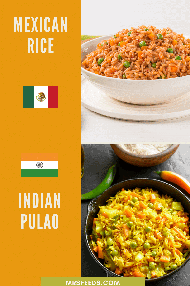 Indian versus mexican rice