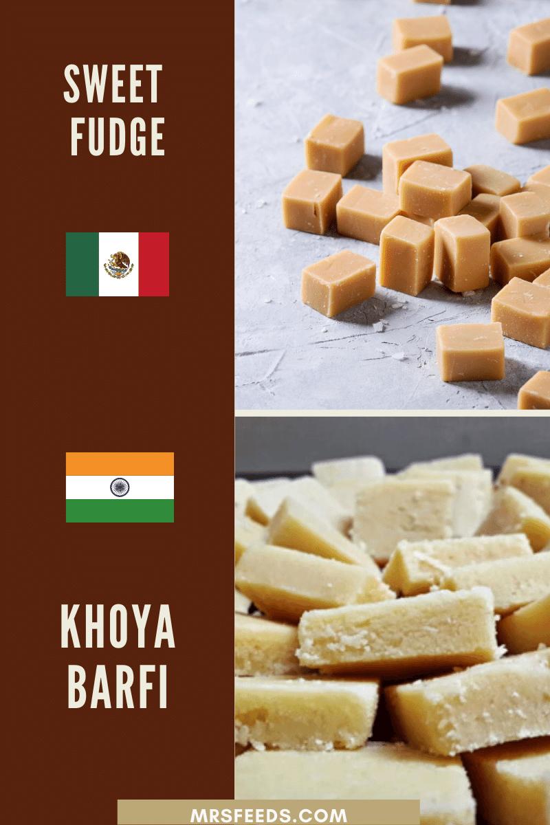 Mexican Sweet Fudge Resembles Indian Khoya Barfi