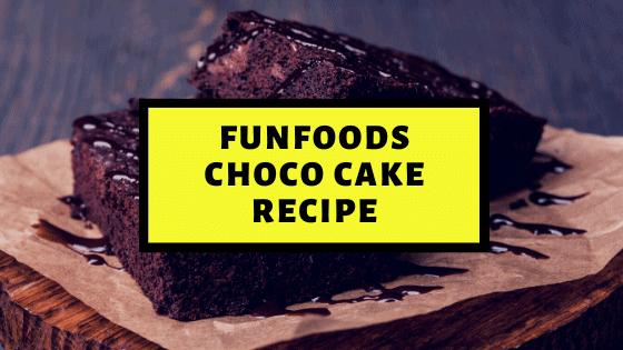 Funfoods Choco Spread & Banana Cake Recipe