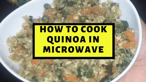 Preparing Quinoa in Microwave