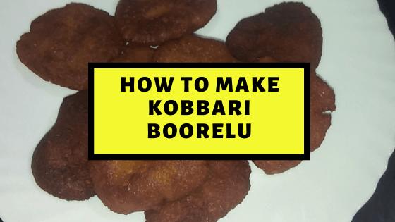 Yummilicious Andhra Kobbari Boorelu Recipe