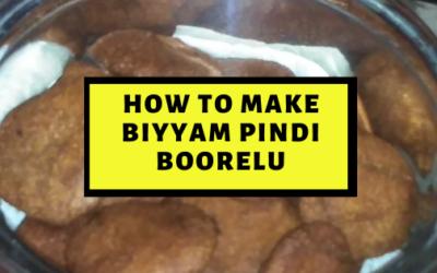 Delectable and Easy Biyyam Pindi Boorelu Recipe