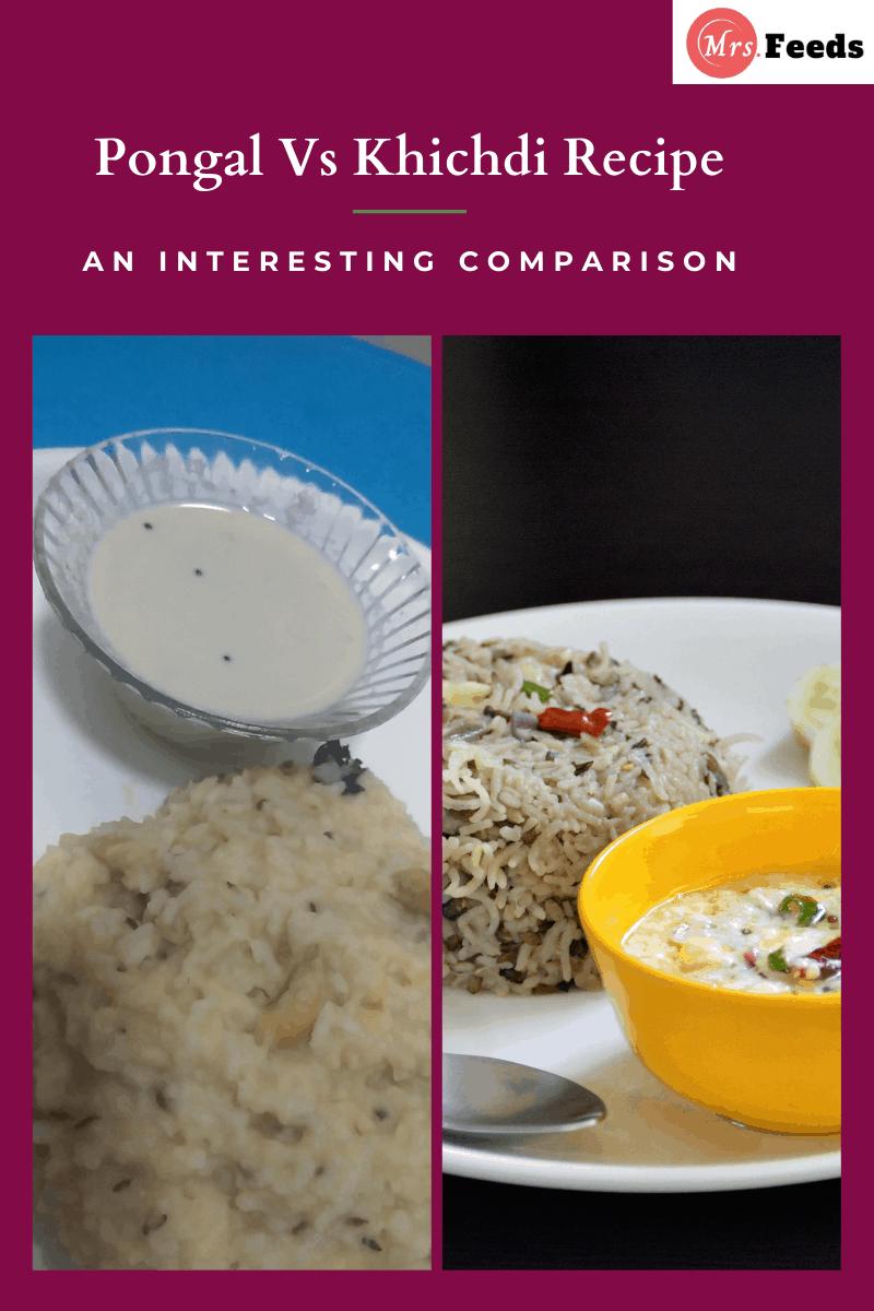 Khichdi vs pongal recipe